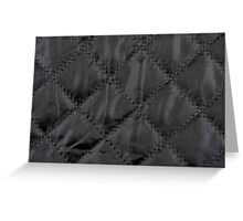 Black quilted cloth texture abstract Greeting Card
