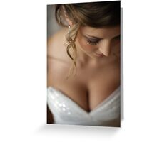 nice day for a white wedding Greeting Card