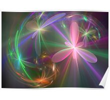 Ethereal Flowers Dancing Poster