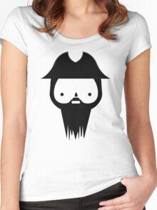 Black Beard Women's Fitted Scoop T-Shirt