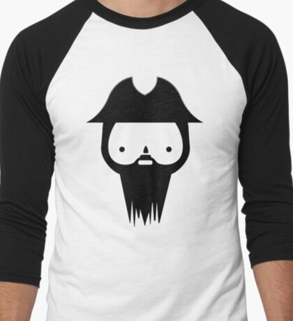 Black Beard Men's Baseball ¾ T-Shirt