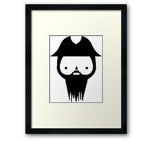 Black Beard Framed Print