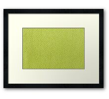 Bright green knitted fabric cloth texture Framed Print