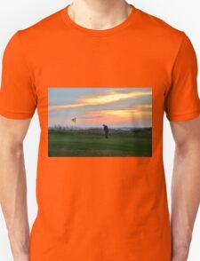 Eighteenth Green at Sunset Unisex T-Shirt