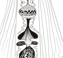Woman in white  Sticker