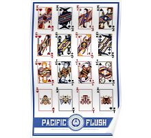 Pacific Flush - Blue Poster