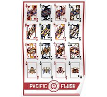 Pacific Flush - Red Poster