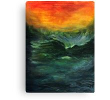 Ocean in motion Canvas Print