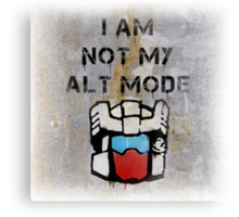 Anti-Functionist with background Canvas Print