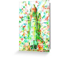 SPACE SHUTTLE - LAUNCH POD Greeting Card