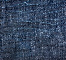 Navy blue jeans cloth textured pattern by Arletta Cwalina