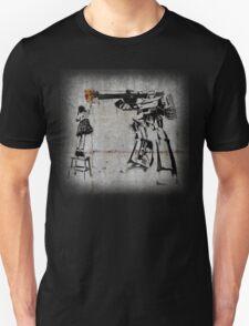 Peace Through Botany with background Unisex T-Shirt