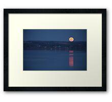 Cayuga Moonrise Framed Print