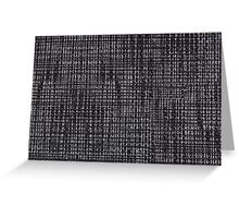 Black fibrous cloth texture abstract Greeting Card