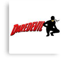 Daredevil and his logo... Canvas Print