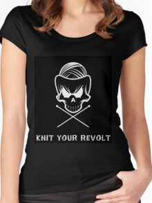 Knit Your Revolt 1 Women's Fitted Scoop T-Shirt