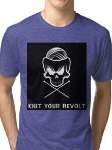 Knit Your Revolt 1 Tri-blend T-Shirt