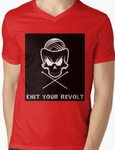 Knit Your Revolt 1 Mens V-Neck T-Shirt