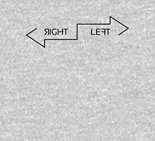 Right Left black Unisex T-Shirt