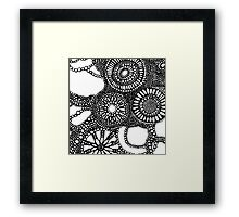 graphic dots Framed Print