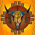 Spirit of the Buffalo Sun (Vertical) by Sena