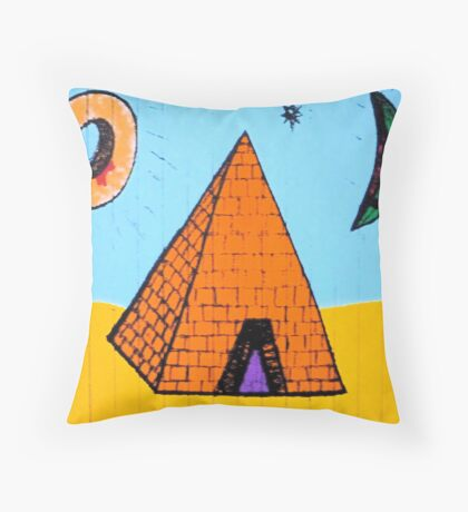 A JAM DOUGHNUT & A SLICE OF MELON & EVERYTHING'S HAPPY IN THE TEMPLE Throw Pillow