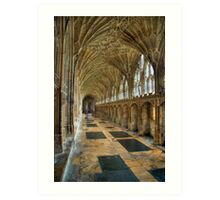 The cloisters were Harry Potter was filmed Art Print
