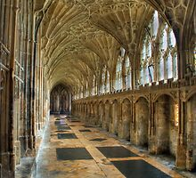 The cloisters were Harry Potter was filmed by Martin White