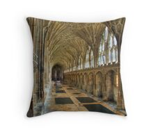 The cloisters were Harry Potter was filmed Throw Pillow