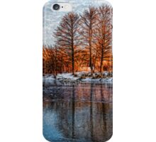 Cold Ice, Warm Light – Lake Ontario Impressions iPhone Case/Skin