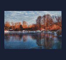 Cold Ice, Warm Light – Lake Ontario Impressions T-Shirt
