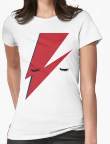 Minimalist Aladdin Sane album cover Womens Fitted T-Shirt