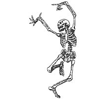 Dancer skeleton Photographic Print