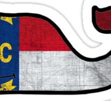 NC Flag Whale Sticker