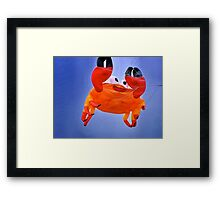 """Don't be such a crab!""  (Cancer is the crab in the zodiac) Framed Print"