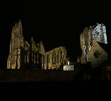 Whitby Abbey by night by JoCr