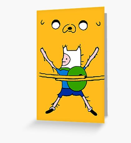 Finn&Jake Hug Greeting Card