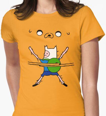 Finn&Jake Hug Womens Fitted T-Shirt