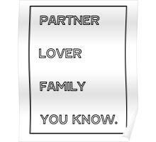 Gallavich Mickey Milkovich partner lover family you know. Poster