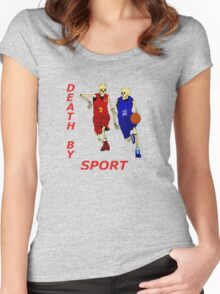 death by sport basketball Women's Fitted Scoop T-Shirt