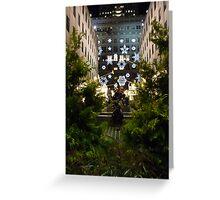 Christmas at Rockefeller Plaza Greeting Card