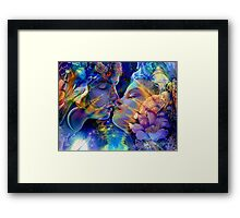 Eternal Love of Twin Flames Framed Print