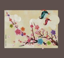Peach Blossoms and Birds by MissKoo
