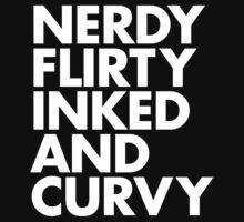 NERDY FLIRTY INKED AND CURVY by Max DeLallo