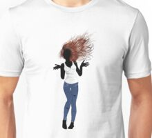 Girl in Casual Style  Unisex T-Shirt