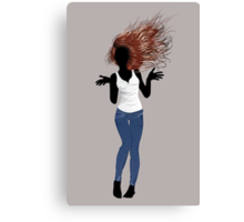 Girl in Casual Style  3 Canvas Print