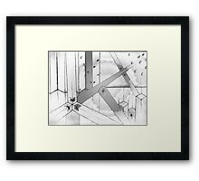 A web of squares. Framed Print