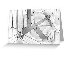 A web of squares. Greeting Card