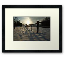 Fence Set Framed Print