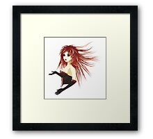 Girl in corset Framed Print